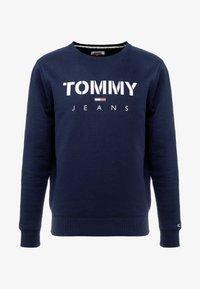Tommy Jeans - NOVEL LOGO CREW - Sweatshirt - black iris - 4