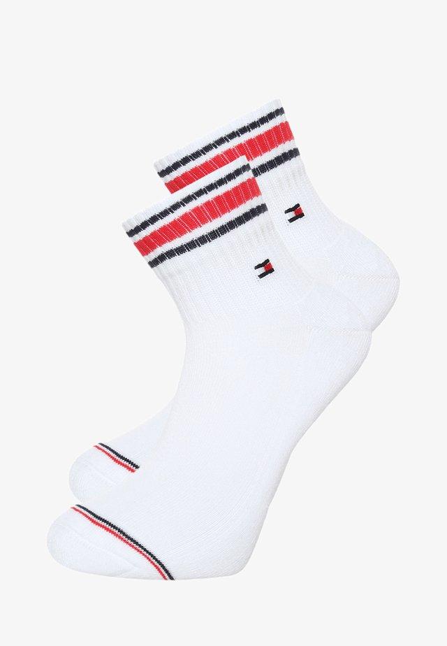 MEN ICONIC SPORTS QUARTER 2 PACK - Socks - white