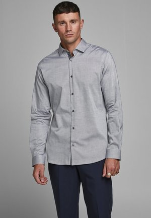 JPRBLAOCCASION STRUCTURE - Koszula biznesowa - light grey melange