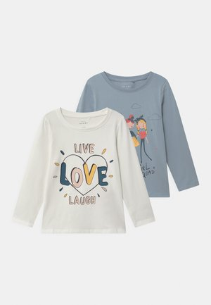 NMFVIX 2 PACK - T-shirt à manches longues - dusty blue