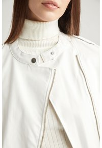 DeFacto - Faux leather jacket - white - 3