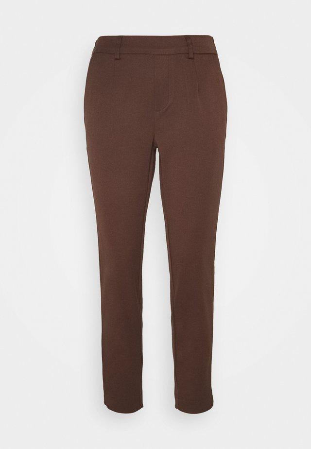 OBJLISA SLIM PANT SEASONAL - Spodnie materiałowe - chicory coffee