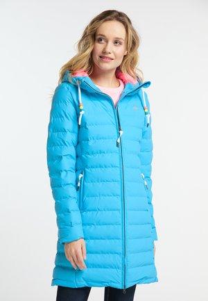 Winter coat - neon blue