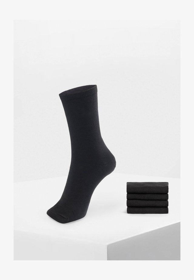 5 PAIRS OF COTTON SOCKS - Calze - black