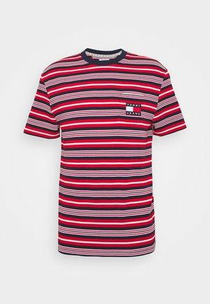 STRIPE POCKET TEE - T-shirt z nadrukiem - twilight navy