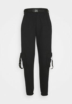 SEAT BELT TROUSER - Teplákové kalhoty - black