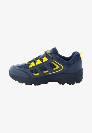 VOJO TEXAPORE LOW UNISEX - Hiking shoes - blue / yellow