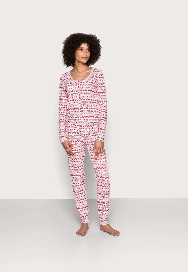 Cotton On Body - HENLEY LONG JOHN - Pyjama set - red