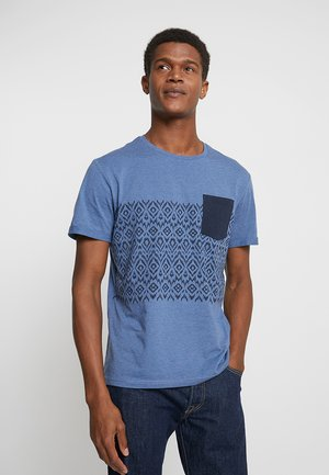 Print T-shirt - mottled blue