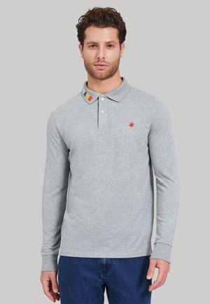 Poloshirt - w-grey melange