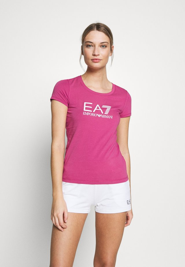 Print T-shirt - malaga/white