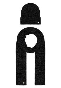 HUGO - XMAS SET HAT SCARF - Šála - black - 0