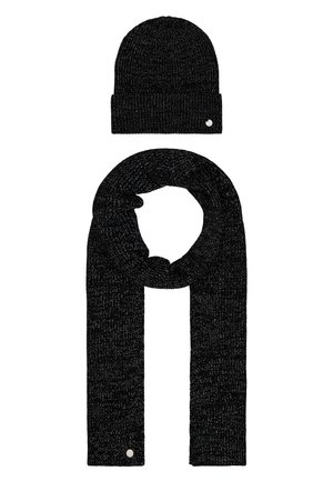 XMAS SET HAT SCARF - Sjal - black