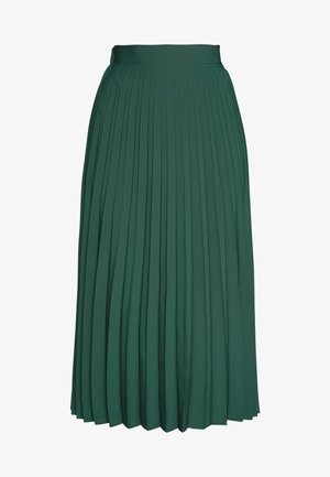 PLAIN PLEAT MIDI SKIRT - A-line skirt - green