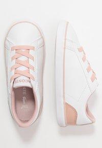 Lacoste - LEROND - Nazouvací boty - white/natur - 0