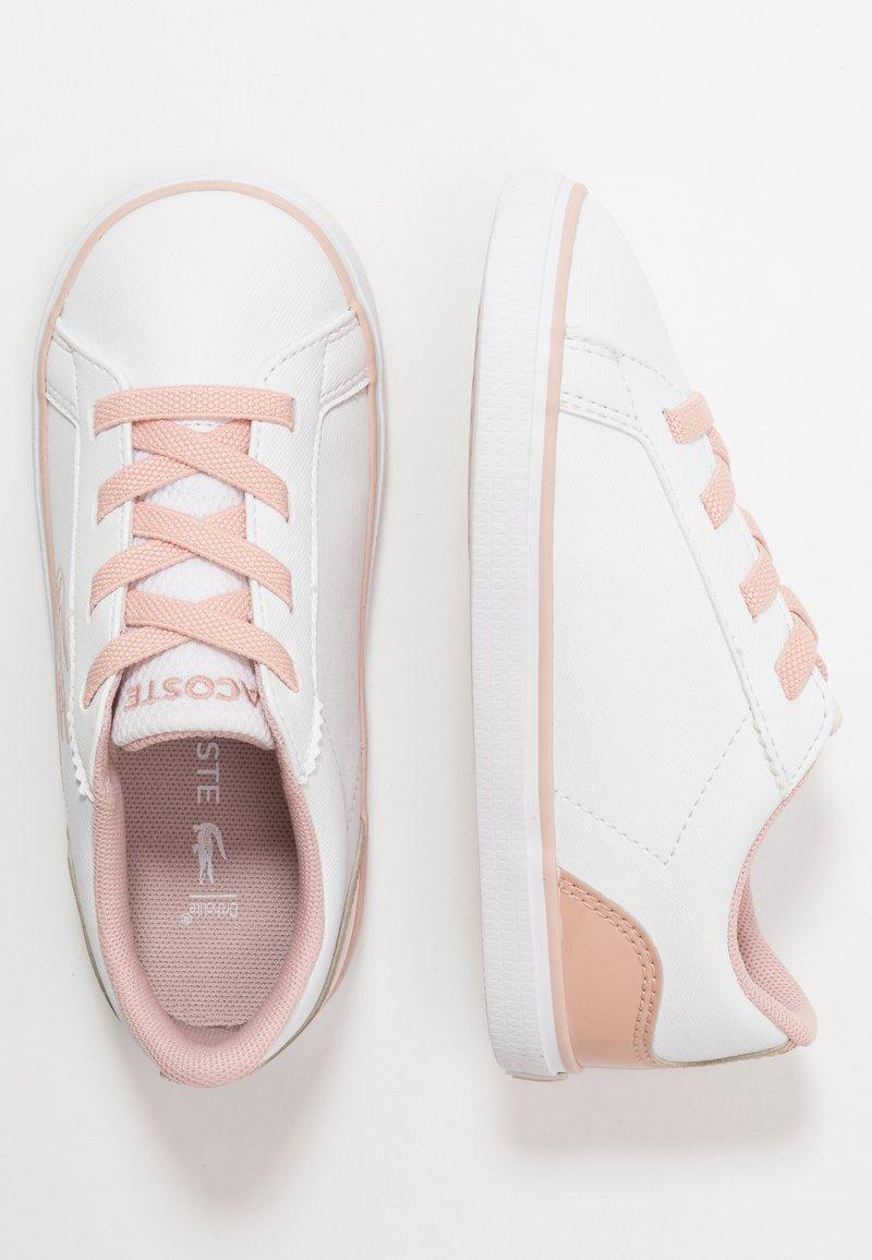 Lacoste - LEROND - Nazouvací boty - white/natur