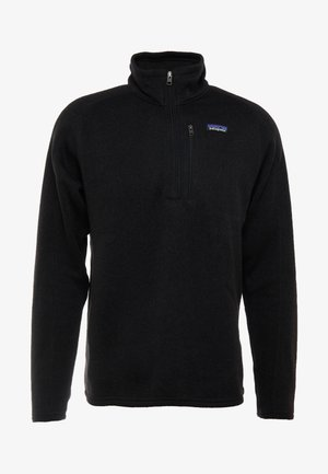 BETTER SWEATER ZIP - Fleece jumper - black