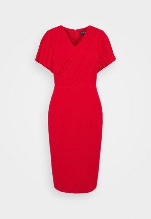 LUXE TECH DRESS - Day dress - orient red