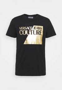 Versace Jeans Couture - SLIM BIG FOIL - Triko spotiskem - black - 5