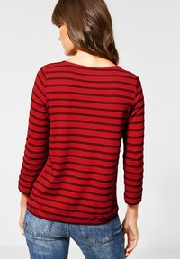 Cecil - MIT STREIFEN - Long sleeved top - red - 2