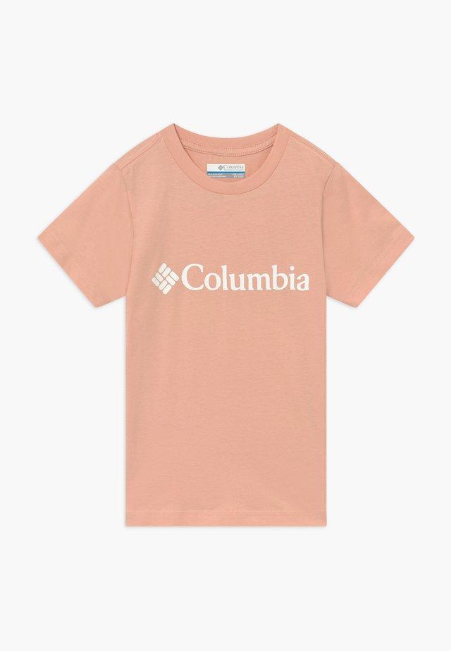 BASIC LOGO YOUTH SHORT SLEEVE - Camiseta estampada - peach cloud