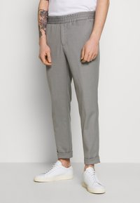 Filippa K - TERRY CROPPED PANTS - Trousers - mid grey melange - 0