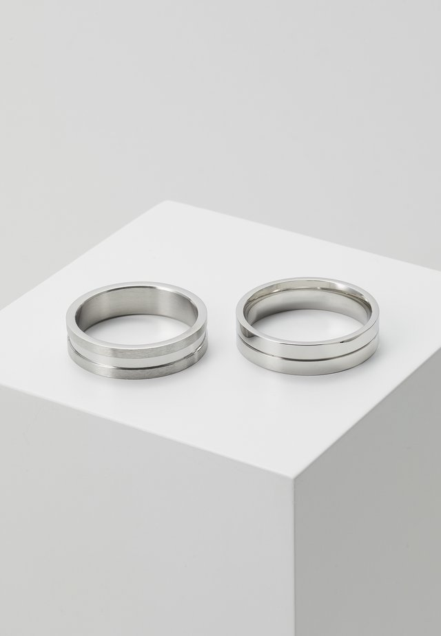 LINE BAND 2 PACK - Ring - silver-coloured