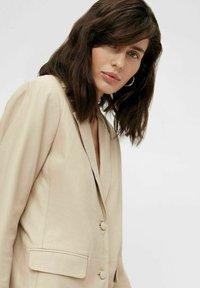 Object - Leather jacket - beige - 3