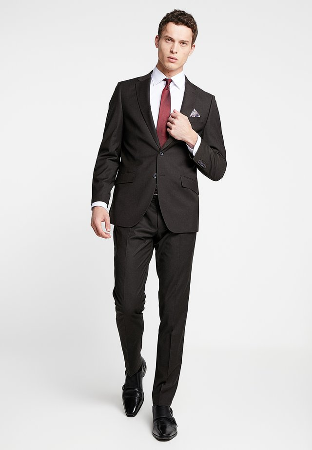 SUIT REGULAR FIT - Completo - dark brown