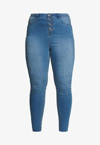 Missguided Plus - BUTTON FRONT LAWLESS - Jeans Skinny Fit - blue - 4