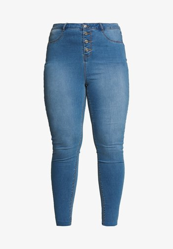 BUTTON FRONT LAWLESS - Jeans Skinny Fit - blue