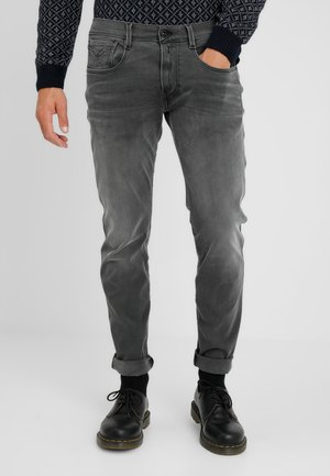 HYPERFLEX + ANBASS - Slim fit jeans - grey denim