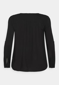 MY TRUE ME TOM TAILOR - BLOUSE WITH PLEAT - Blouse - deep black - 1
