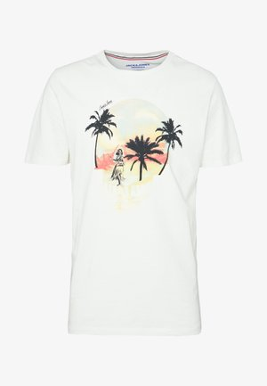 JORSKULL ISLAND TEE CREW NECK - T-shirt z nadrukiem - cloud dancer
