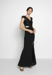 WAL G TALL - CUT OUT WAIST DRESS - Cocktail dress / Party dress - black - 1