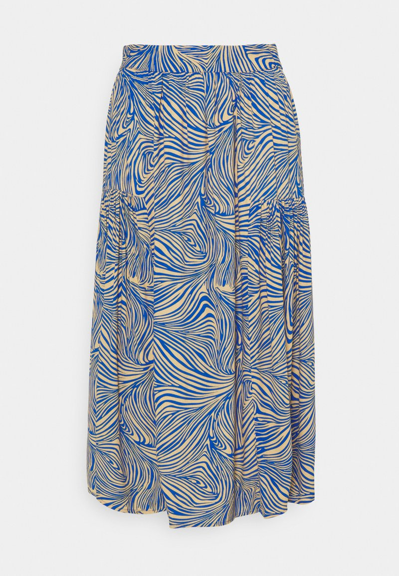 Vero Moda - VMGEA CALF SKIRT - A-line skirt - dazzling blue