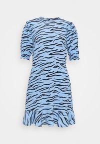 Marks & Spencer London - FRILL SKATER MINI - Day dress - blue - 0
