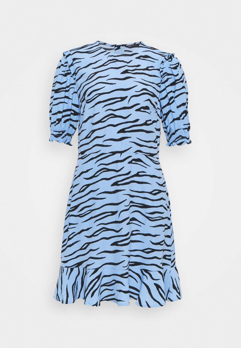 Marks & Spencer London - FRILL SKATER MINI - Day dress - blue