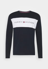 Tommy Hilfiger - TEE LOGO FLAG - Pyjama top - blue - 3