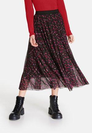 A-line skirt - black gemustert
