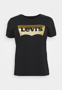 Levi's® Plus - THE PERFECT TEE - T-shirt con stampa - gold/batwing caviar - 0