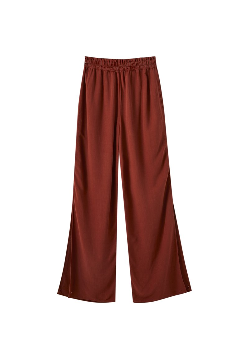 PULL&BEAR - Spodnie materiałowe - brown