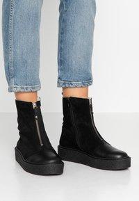 Ca'Shott - Platform ankle boots - black - 0