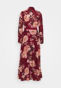 Vero Moda - VMSUNILLA BELT ANCLE DRESS - Vestito lungo - cabernet/sunilla - 1
