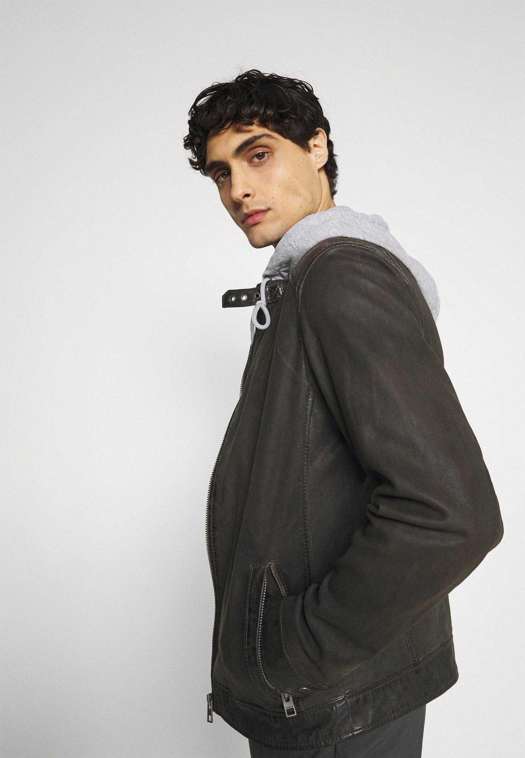 Men PARK - Leather jacket
