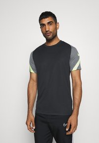 Nike Performance - DRY STRIKE - Print T-shirt - black/smoke grey/black/volt - 0