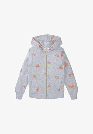 Zip-up hoodie - kids melange flower design