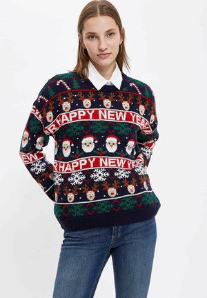 NEW YEAR JUMPER - Jumper - navy