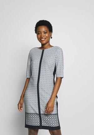 KLEID - Jersey dress - navy/ offwhite