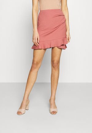 LUCY FRILL SKIRT - Mini skirt - powdered rose